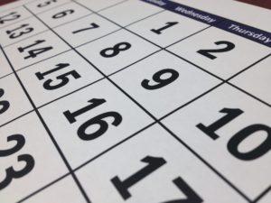a one month calendar