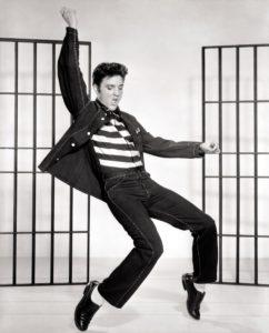 Elvis in prison clothes
