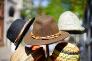 hats on a rack