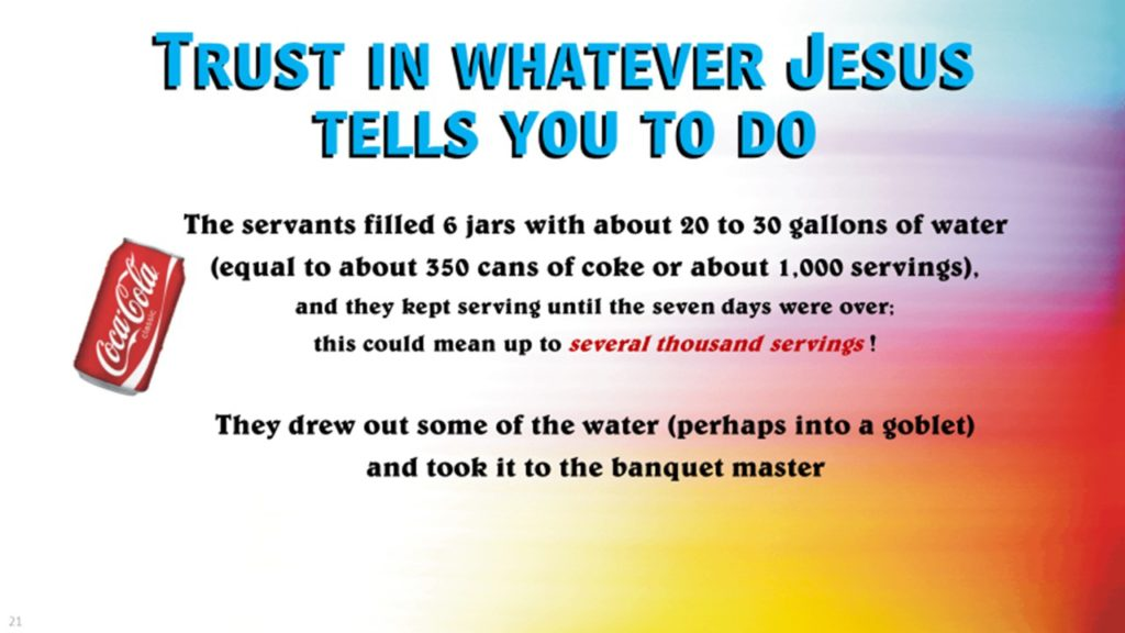 Do what Jesus tells you