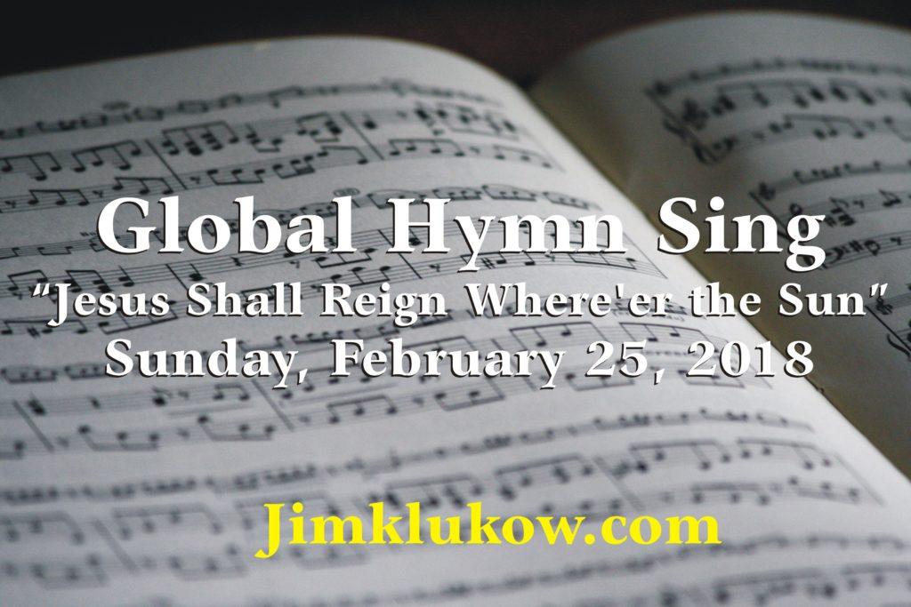 Global Hymn Sing notice