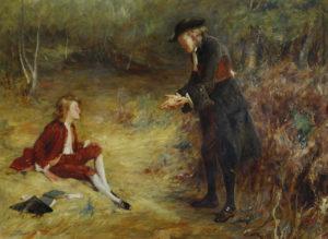 John Pettie painting of a Roadside Sermon
